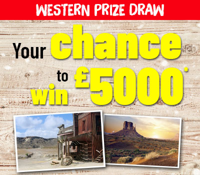 Western Prize Draw Menu Visual